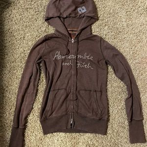Abercrombie & Fitch zippered hoodie size L